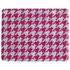 Houndstooth1 White Marble & Pink Denim Jigsaw Puzzle Photo Stand (rectangular) by trendistuff