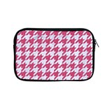 HOUNDSTOOTH1 WHITE MARBLE & PINK DENIM Apple MacBook Pro 13  Zipper Case Front