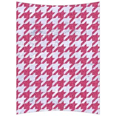Houndstooth1 White Marble & Pink Denim Back Support Cushion