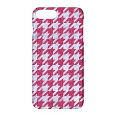 Houndstooth1 White Marble & Pink Denim Apple Iphone 8 Plus Hardshell Case