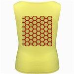 HEXAGON2 WHITE MARBLE & PINK DENIM (R) Women s Yellow Tank Top Back