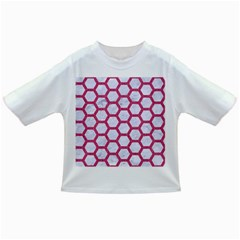 Hexagon2 White Marble & Pink Denim (r) Infant/toddler T Shirts