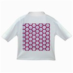 HEXAGON2 WHITE MARBLE & PINK DENIM (R) Infant/Toddler T-Shirts Back