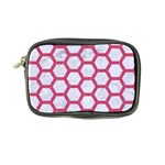 HEXAGON2 WHITE MARBLE & PINK DENIM (R) Coin Purse Front