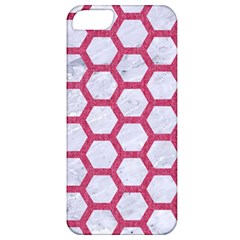Hexagon2 White Marble & Pink Denim (r) Apple Iphone 5 Classic Hardshell Case