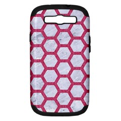 Hexagon2 White Marble & Pink Denim (r) Samsung Galaxy S Iii Hardshell Case (pc+silicone)
