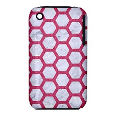HEXAGON2 WHITE MARBLE & PINK DENIM (R) iPhone 3S/3GS