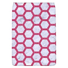 HEXAGON2 WHITE MARBLE & PINK DENIM (R) Flap Covers (L)