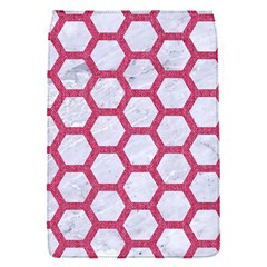 HEXAGON2 WHITE MARBLE & PINK DENIM (R) Flap Covers (S)