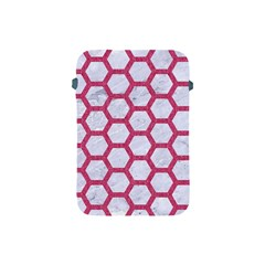 HEXAGON2 WHITE MARBLE & PINK DENIM (R) Apple iPad Mini Protective Soft Cases