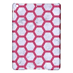 Hexagon2 White Marble & Pink Denim (r) Ipad Air Hardshell Cases by trendistuff