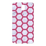 HEXAGON2 WHITE MARBLE & PINK DENIM (R) Samsung Galaxy Note 3 N9005 Hardshell Back Case Front