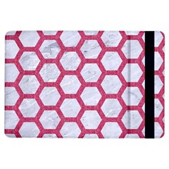 Hexagon2 White Marble & Pink Denim (r) Ipad Air Flip