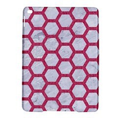 HEXAGON2 WHITE MARBLE & PINK DENIM (R) iPad Air 2 Hardshell Cases