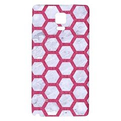 HEXAGON2 WHITE MARBLE & PINK DENIM (R) Galaxy Note 4 Back Case