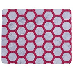 HEXAGON2 WHITE MARBLE & PINK DENIM (R) Jigsaw Puzzle Photo Stand (Rectangular)