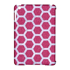 Hexagon2 White Marble & Pink Denim Apple Ipad Mini Hardshell Case (compatible With Smart Cover) by trendistuff