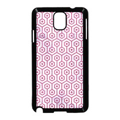Hexagon1 White Marble & Pink Denim (r) Samsung Galaxy Note 3 Neo Hardshell Case (black) by trendistuff