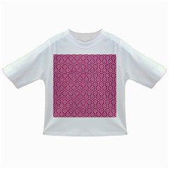 Hexagon1 White Marble & Pink Denim Infant/toddler T Shirts by trendistuff