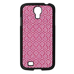 Hexagon1 White Marble & Pink Denim Samsung Galaxy S4 I9500/ I9505 Case (black) by trendistuff