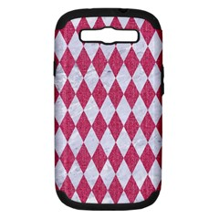 Diamond1 White Marble & Pink Denim Samsung Galaxy S Iii Hardshell Case (pc+silicone) by trendistuff