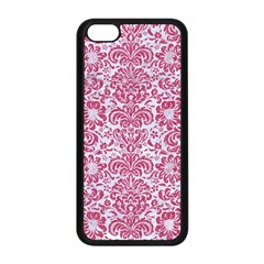 Damask2 White Marble & Pink Denim (r) Apple Iphone 5c Seamless Case (black) by trendistuff
