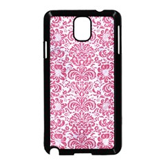 Damask2 White Marble & Pink Denim (r) Samsung Galaxy Note 3 Neo Hardshell Case (black) by trendistuff