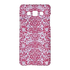 Damask2 White Marble & Pink Denim (r) Samsung Galaxy A5 Hardshell Case  by trendistuff