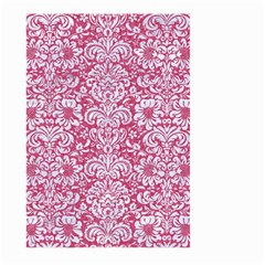 Damask2 White Marble & Pink Denim Large Garden Flag (two Sides) by trendistuff