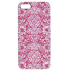 Damask2 White Marble & Pink Denim Apple Iphone 5 Hardshell Case With Stand by trendistuff