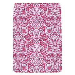 Damask2 White Marble & Pink Denim Flap Covers (s)  by trendistuff