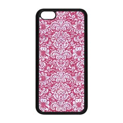 Damask2 White Marble & Pink Denim Apple Iphone 5c Seamless Case (black) by trendistuff