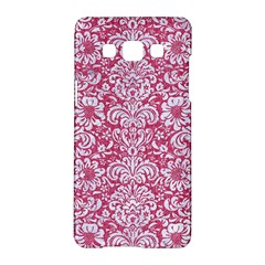 Damask2 White Marble & Pink Denim Samsung Galaxy A5 Hardshell Case  by trendistuff