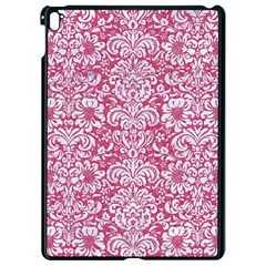 Damask2 White Marble & Pink Denim Apple Ipad Pro 9 7   Black Seamless Case by trendistuff