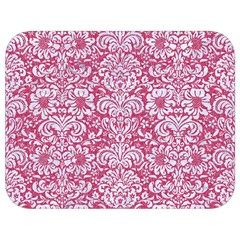 Damask2 White Marble & Pink Denim Full Print Lunch Bag by trendistuff