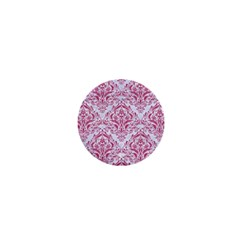 Damask1 White Marble & Pink Denim (r) 1  Mini Magnets by trendistuff