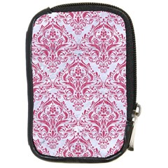 Damask1 White Marble & Pink Denim (r) Compact Camera Cases by trendistuff