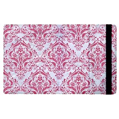 Damask1 White Marble & Pink Denim (r) Apple Ipad Pro 12 9   Flip Case by trendistuff