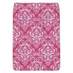 Damask1 White Marble & Pink Denim Flap Covers (l)  by trendistuff