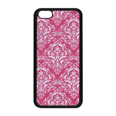 Damask1 White Marble & Pink Denim Apple Iphone 5c Seamless Case (black) by trendistuff