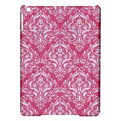 Damask1 White Marble & Pink Denim Ipad Air Hardshell Cases by trendistuff