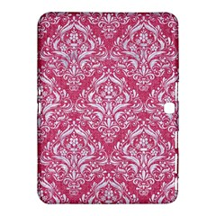 Damask1 White Marble & Pink Denim Samsung Galaxy Tab 4 (10 1 ) Hardshell Case  by trendistuff