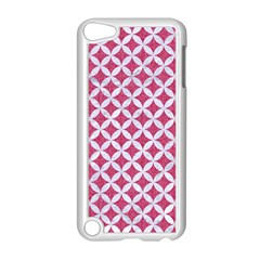 Circles3 White Marble & Pink Denim Apple Ipod Touch 5 Case (white) by trendistuff