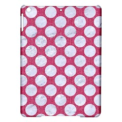 Circles2 White Marble & Pink Denim Ipad Air Hardshell Cases by trendistuff