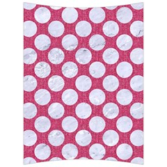 Circles2 White Marble & Pink Denim Back Support Cushion by trendistuff