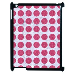 Circles1 White Marble & Pink Denim (r) Apple Ipad 2 Case (black) by trendistuff