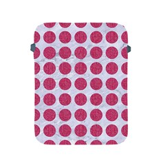 Circles1 White Marble & Pink Denim (r) Apple Ipad 2/3/4 Protective Soft Cases by trendistuff