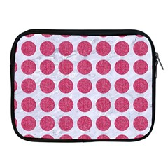 Circles1 White Marble & Pink Denim (r) Apple Ipad 2/3/4 Zipper Cases by trendistuff