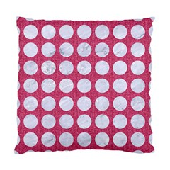 Circles1 White Marble & Pink Denim Standard Cushion Case (one Side) by trendistuff