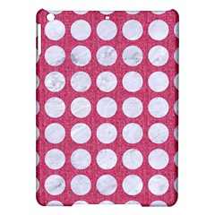 Circles1 White Marble & Pink Denim Ipad Air Hardshell Cases by trendistuff